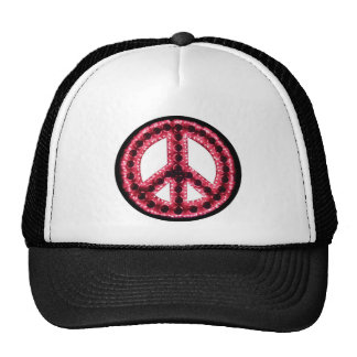 red peace hat