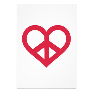 Red peace heart announcement
