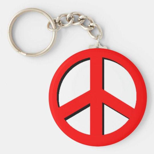 Red Peace Keychain