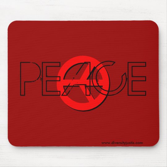 Red Peace Mousepad