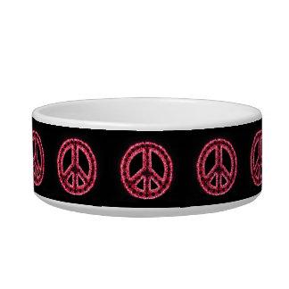Red Peace Pet Bowl