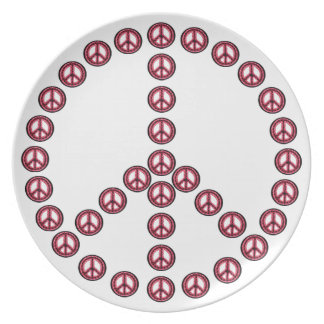 Red Peace Plate