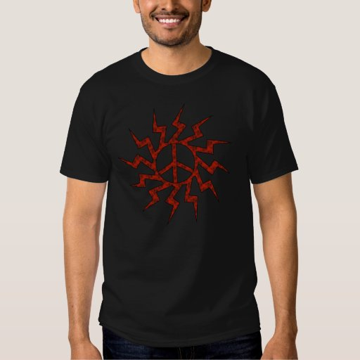 Red Peace Sigh Star T Shirts