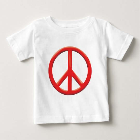 RED PEACE SIGN BABY T-Shirt