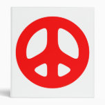 Red Peace Sign Binder
