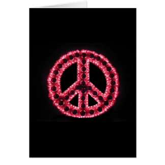 red peace sign greeting card