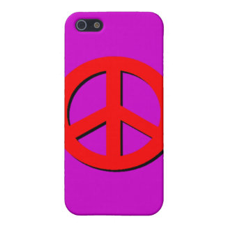 Red Peace Sign  iPhone 5 Covers