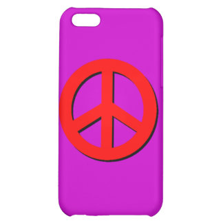 Red Peace Sign iPhone 5C Cases