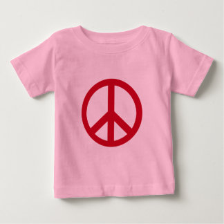 Red Peace Sign Products Baby T-Shirt