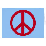 Red Peace Sign Products Card