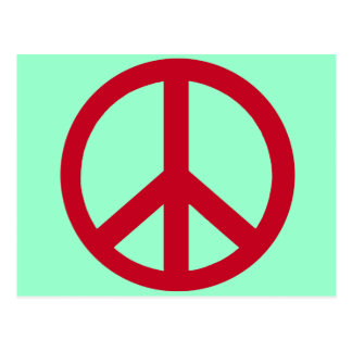 Red Peace Sign Products Postcard