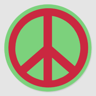 Red Peace Sign Products Sticker