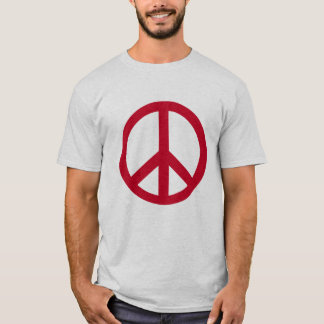 Red Peace Sign Products T-Shirt
