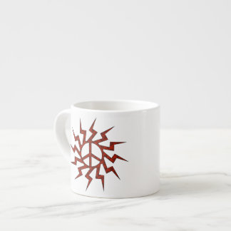 Red Peace Sign Star Espresso Cup