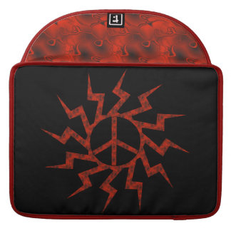 Red Peace Sign Star MacBook Pro Sleeve