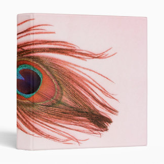 Red Peacock Feather Binder