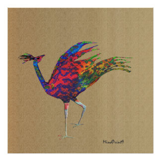 Red Peafowl Poster