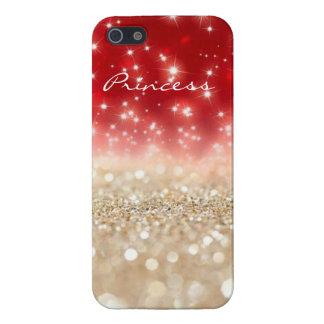 Red & Pearl Glitter iPhone 5/5S Case