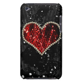 Red Pearl Heart Barely There iPod Cover