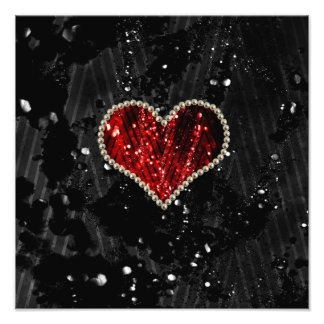 Red Pearl Heart Photograph