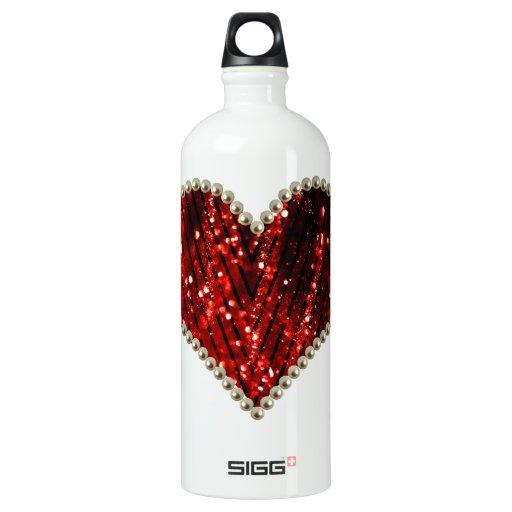 Red Pearl Heart SIGG Traveler 1.0L Water Bottle