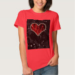 Red Pearl Heart T-shirts