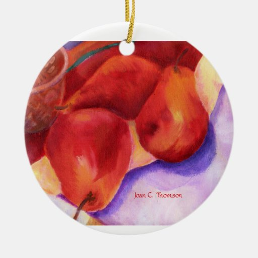 Red Pears Ornament