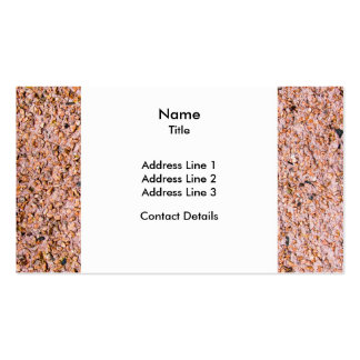 Red Pebble Dash Business Card