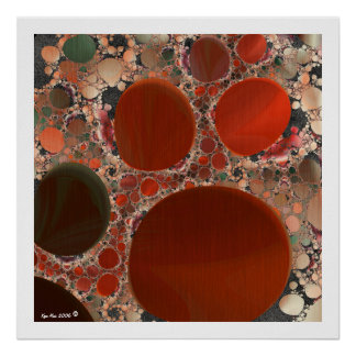 Red Pebbles Poster 26in