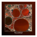 Red Pebbles Poster 40in