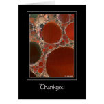 Red Pebbles Thankyou Greeting Card