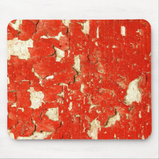 Red Peeling Paint Mouse Pad