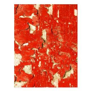 Red Peeling Paint Postcard