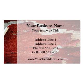 Red Peeling Paint Texture Double-Sided Standard Business Cards (Pack Of 100)