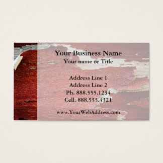 Red Peeling Paint Texture Business Card