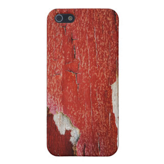 Red Peeling Paint Texture Cases For iPhone 5