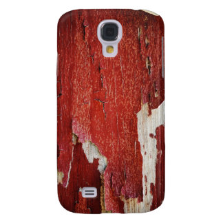 Red Peeling Paint Texture Galaxy S4 Case