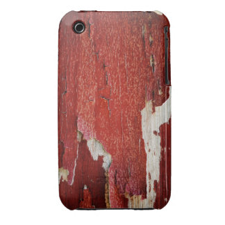 Red Peeling Paint Texture iPhone 3 Case-Mate Cases