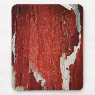 Red Peeling Paint Texture Mouse Pad