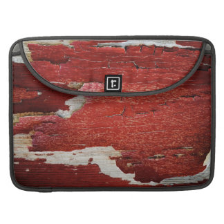 Red Peeling Paint Texture Sleeves For MacBooks