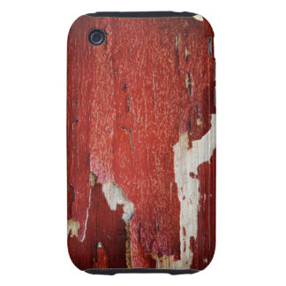Red Peeling Paint Texture Tough iPhone 3 Cover