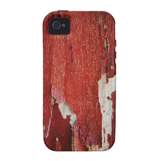 Red Peeling Paint Texture Vibe iPhone 4 Cover