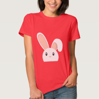 Red Peeping Easter Bunny Duckling Shirt