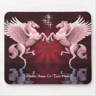 Red Pegasus Reflections Mouse Pad