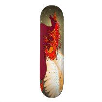 Red Pegasus Skateboard Deck