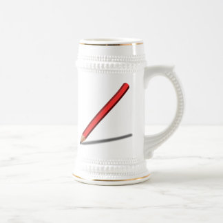 Red Pencil 18 Oz Beer Stein