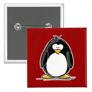 Red penguin button