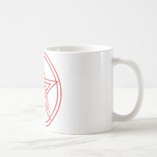 Red Pentacle Coffee Mug