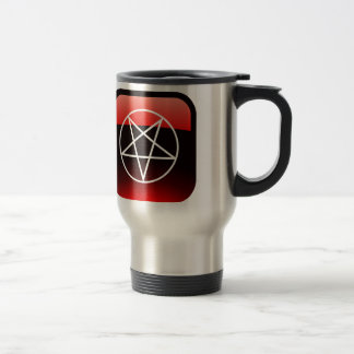 Red Pentacle 15 Oz Stainless Steel Travel Mug