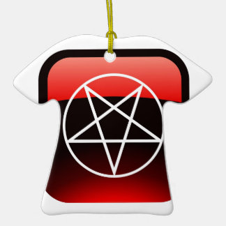 Red Pentacle Christmas Tree Ornaments